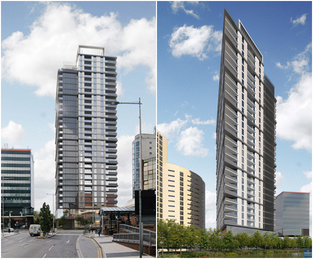 Cardiff Tower CGI from both angles