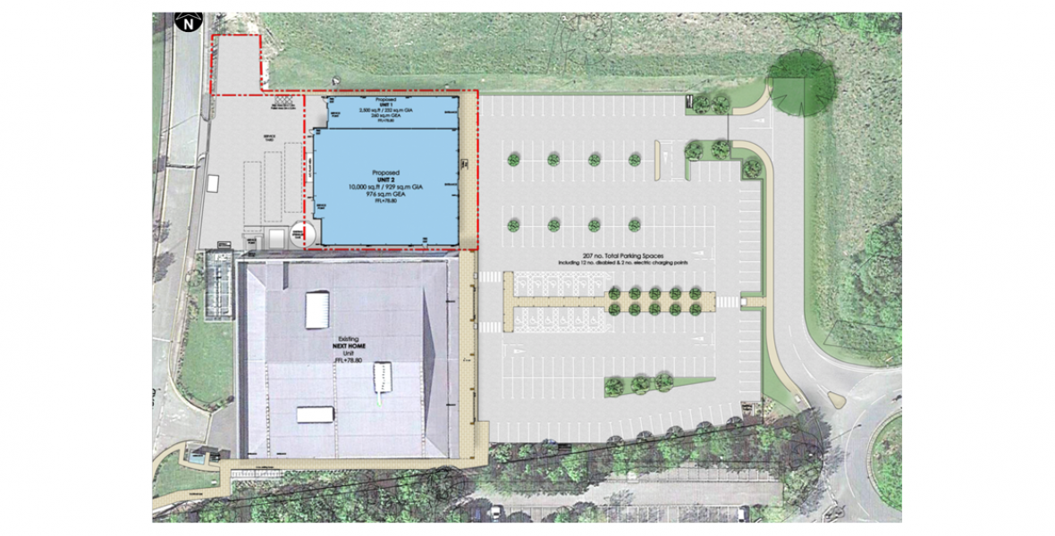 Handforth Dean Shopping Park, Phase 1B - Plan